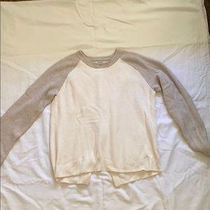 Madewell split back sweater